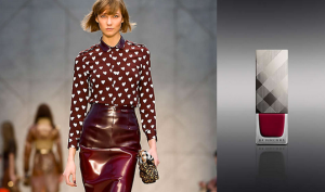 Burberry a/w14 : Oxblood nail polish