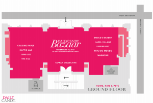 DailyCandy Bazaar Ground Level map