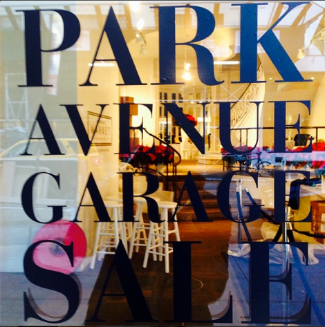Park Avenue Garage Holiday window